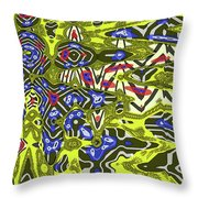 Janca Abstract # 6731eac1 Throw Pillow