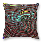 Janca Abstract Ovoid Panel 9646w9a Throw Pillow