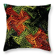 Janca Abstract Panel #5473w3 Throw Pillow