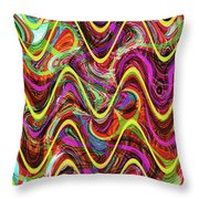 Janca Abstract Wave Panel #5at Throw Pillow