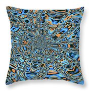 Janca Abstract With Blue 9646w3 Throw Pillow