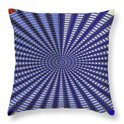 Janca Blue Oval Abstract 9646w11 Throw Pillow