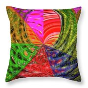 Janca Colors Panel Abstract # 5212 Wtw7 Throw Pillow