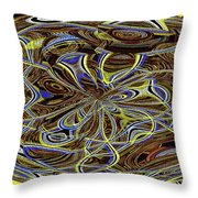 Janca Oval Abstract 4917 W3a Throw Pillow