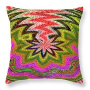 Janca Pink Color Panel Abstract #5212 Wtw6 Throw Pillow