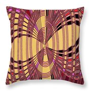 Janca Red And Yellow Abstract  Throw Pillow