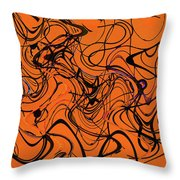 Janca Red Power Tower Abstract Throw Pillow