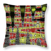 Jancart #0010-8 Abstract Throw Pillow