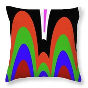 Jancart Drawing Abstract #8455pc Throw Pillow