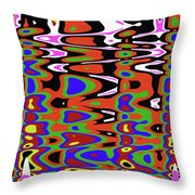 Jancart Drawing Abstract #8455pcws Throw Pillow