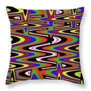 Jancart Drawing Abstract #8455ws Throw Pillow