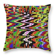 Jancart Drawing Abstract #8455wt Throw Pillow
