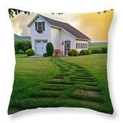 Jandy's Shed Throw Pillow by Stephanie Calhoun