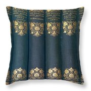 Jane Austain Books Throw Pillow