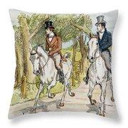 Jane Austen: Illustration Throw Pillow
