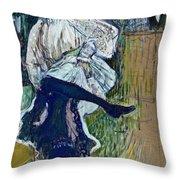 Jane Avril Dancing Circa 1892 Throw Pillow