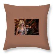 Jane Bond Throw Pillow
