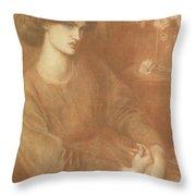 Jane Morris Throw Pillow