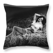 Jane Russell In The Outlaw Throw Pillow