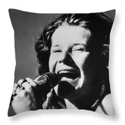 Janis Joplin (1943-1970) Throw Pillow by Granger