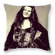 Janis Joplin, Music Legend Throw Pillow