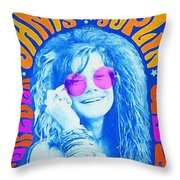 Janis Stamp Painting Throw Pillow