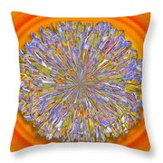 Jannell -- Floral Disk Throw Pillow