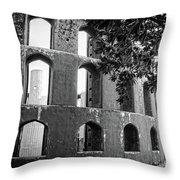 Jantar Mantar - Monochrome Throw Pillow