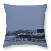 January Barn Throw Pillow