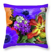 January Bouquet Throw Pillow