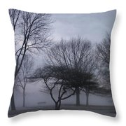 January Fog 6 Throw Pillow