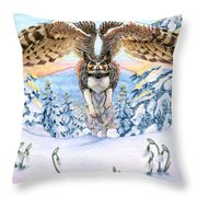 January Gryphon Throw Pillow