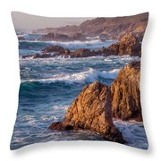 January In Big Sur Throw Pillow