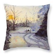 January Morning Throw Pillow