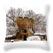 January Snow In England  Throw Pillow