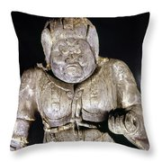 Japan: Buddhist Statue Throw Pillow