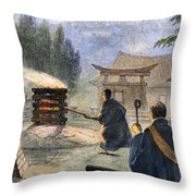Japan: Cremation, 1890 Throw Pillow