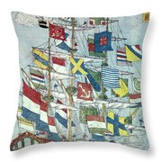 Japan: Dutch Ship Throw Pillow