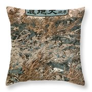 Japan: Earthquake, 1855 Throw Pillow
