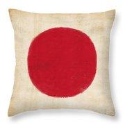 Japan Flag Throw Pillow by Setsiri Silapasuwanchai