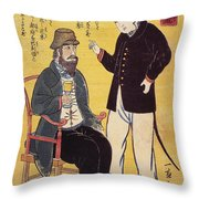 Japan: French Trade, 1861 Throw Pillow