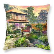 Japan Garden Variant 2 Throw Pillow