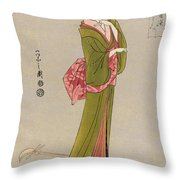 Japan: Geisha, C1794 Throw Pillow