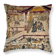 Japan: Kabuki Theater Throw Pillow