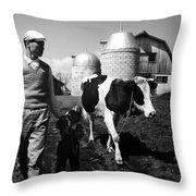 Japan: Land Reclamation Throw Pillow