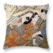 Japan: Lovers Throw Pillow