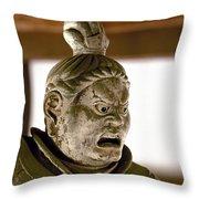 Japan: Warrior Statue Throw Pillow