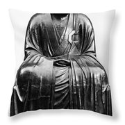 Japan: Zen Priest Throw Pillow