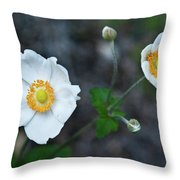 Japanaese Anemone Throw Pillow
