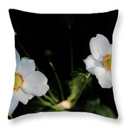 Japanese Anemone Flower Throw Pillow